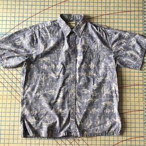 Cooke Street Honolulu Cotton Hawaiian Shirt L